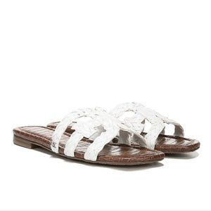 Sam Edelman White Beckie Slide Sandals